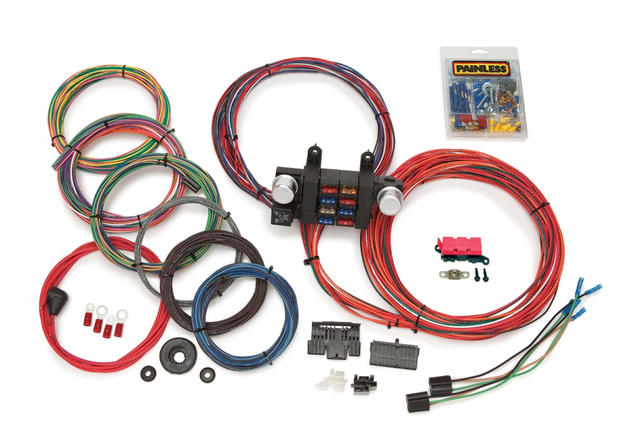 [SCHEMATICS_48ZD]  18 Circuit Customizable Chassis Harness | Painless Performance | T Bucket Wire Harness |  | Painless Wiring